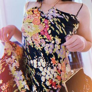 Beautiful vintage Betsey Johnson floral silk dress